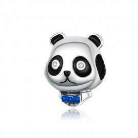 Sterling silver charm Black and white panda