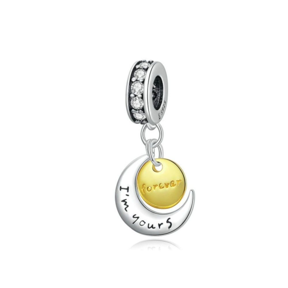 Sterling silver pendant charm I'm yours forever