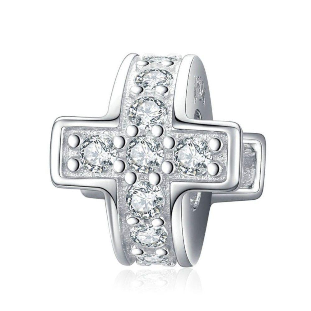 Sterling silver stopper Cross