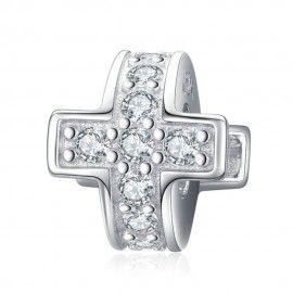 Zwischenelement aus Sterling-Silber Kreuz