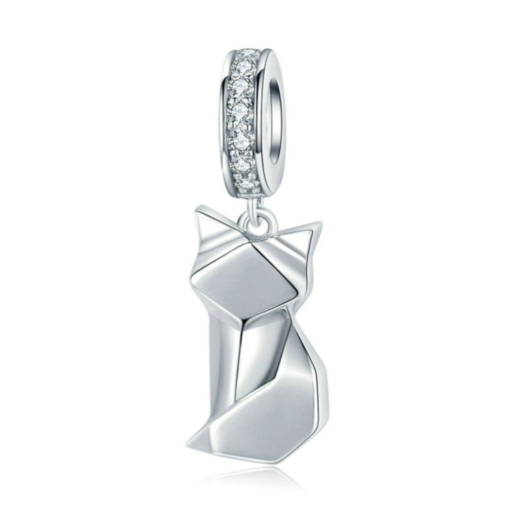 Sterling silver pendant charm Fox