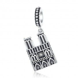 Sterling silver pendant charm Notre Dame