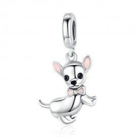 Sterling silver pendant charm Chihuahua