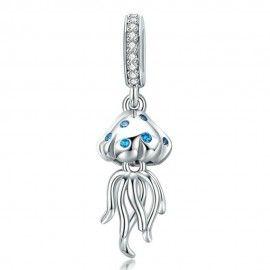 Sterling silver pendant charm Jellyfish