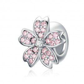 Zwischenelement aus Sterling-Silber Kirschblüte