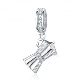 Sterling silver pendant charm Drip pot