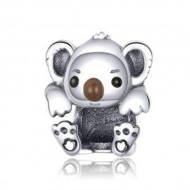 Zilveren bedel Baby koala