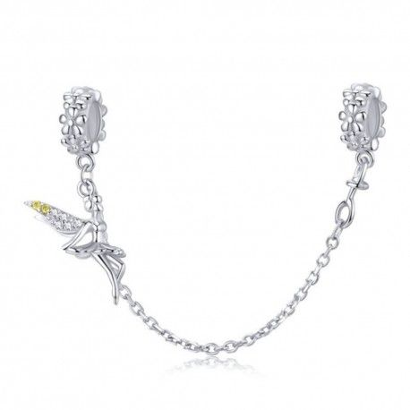 Sterling silver safety chain Elf