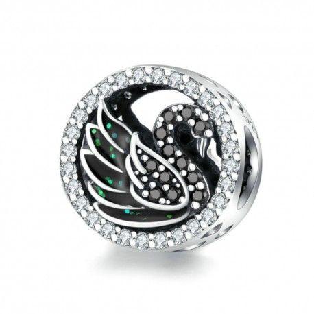 Zilveren bedel Zwarte zwaan