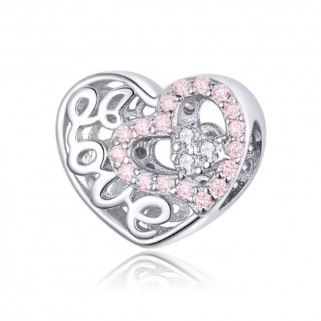 Sterling silver charm Beautiful love