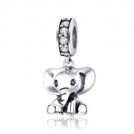 Charm pendente in argento Elefantino