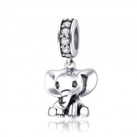Sterling silver pendant charm Little elephant