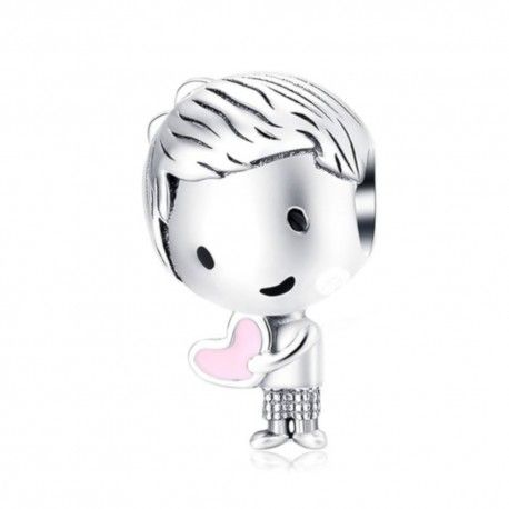 Sterling silver charm Playmate boy