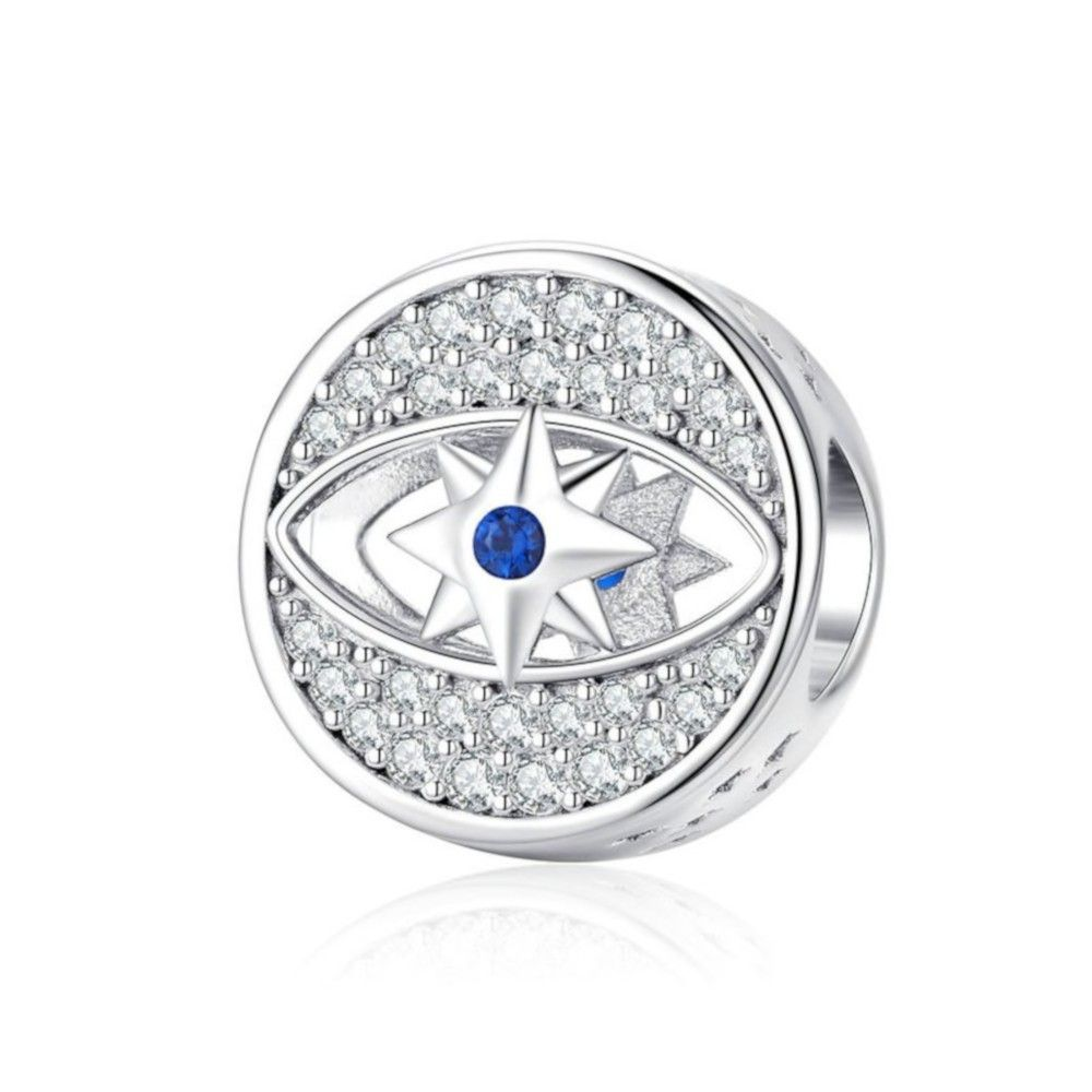 Sterling silver charm The lucky eye