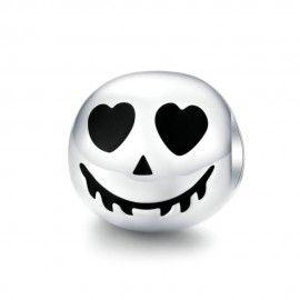 Charm en plata de Ley Cara de miedo Halloween