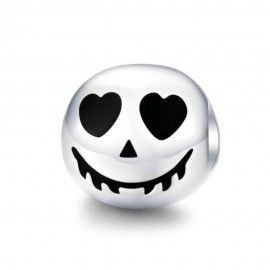 Sterling silver charm Scary face Halloween