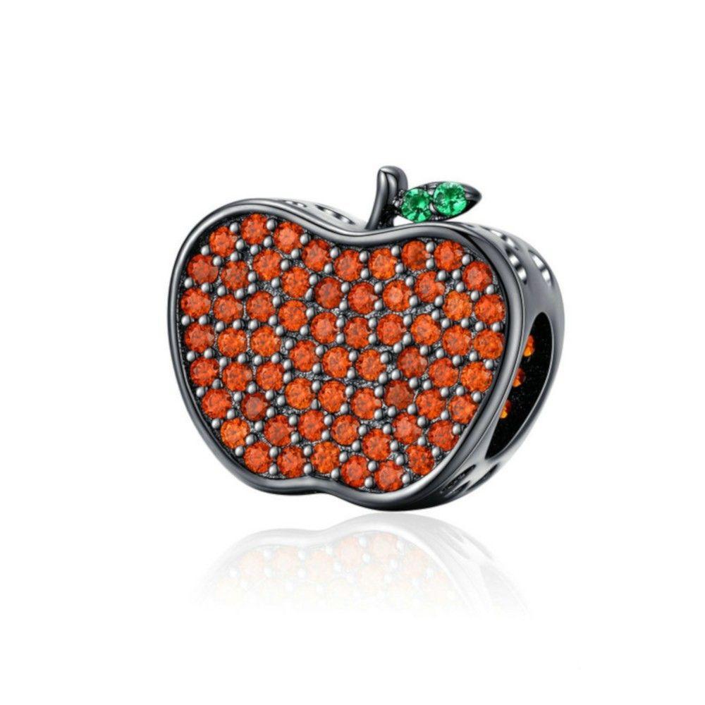 Sterling silver charm Apple bobbing Halloween