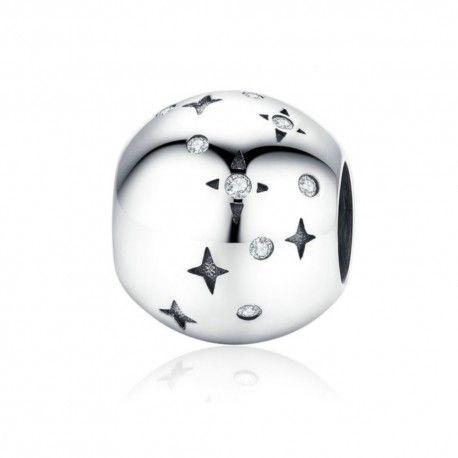 Sterling silver charm Bright stars