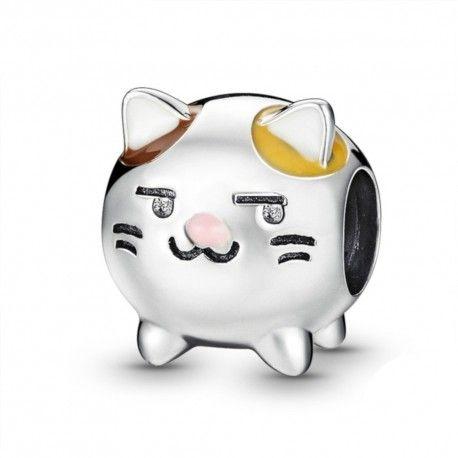 Sterling silver charm Lovely kitten