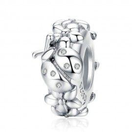 Zwischenelement aus Sterling-Silber Marienkäfer