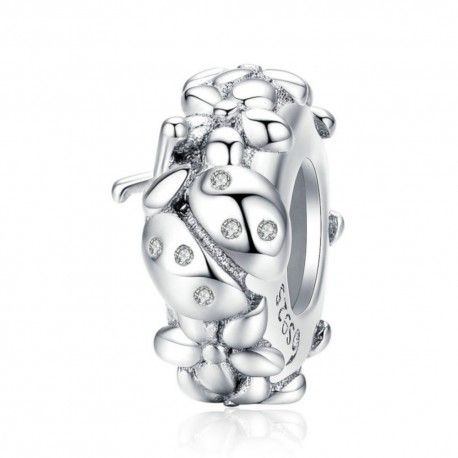 Sterling silver stopper Ladybug