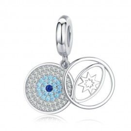 Sterling silver pendant charm The lucky eye