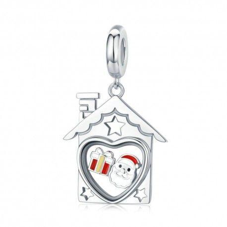 Sterling silver pendant charm Santa Claus