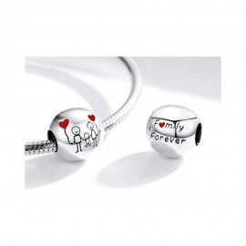 Sterling silver charm My family