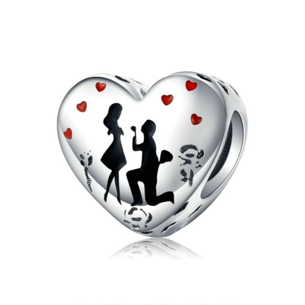 Sterling silver charm Marriage
