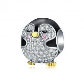 Charm in argento Pinguino
