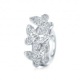 Distanziatore in argento Farfalla
