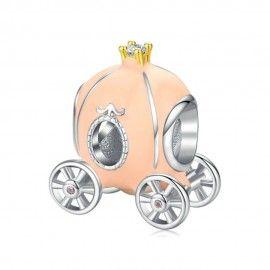 Sterling silver charm Pumpkin cart