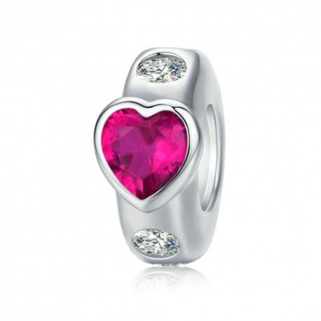 Sterling silver stopper Bright love