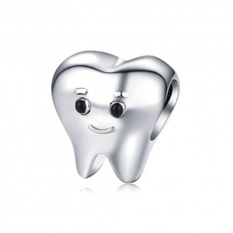 Sterling silver charm Lovely tooth
