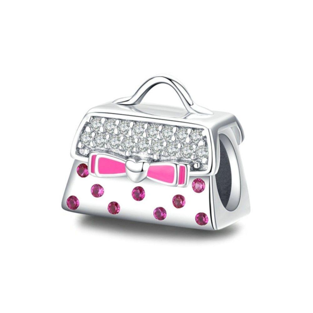 Sterling silver charm Trendy handbag