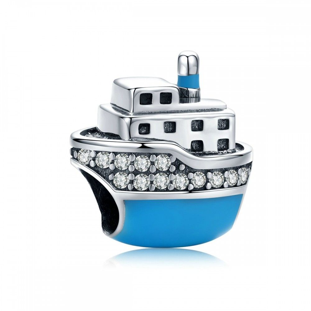 Sterling silver charm Cruise ship
