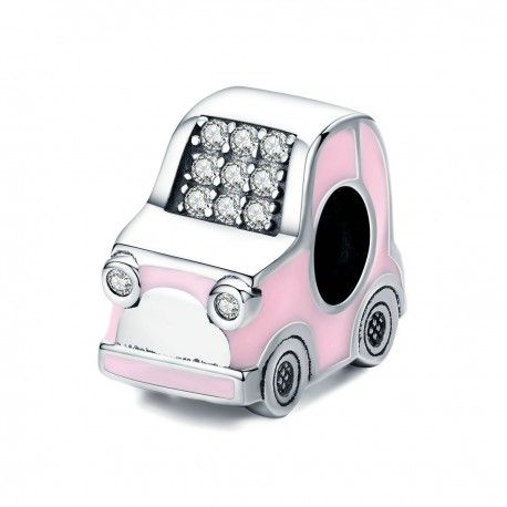 Sterling silver charm Pink car