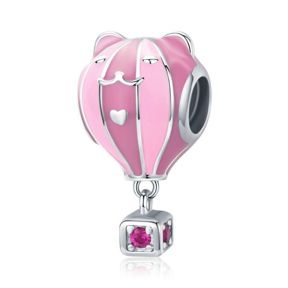 Sterling silver charm Pink balloon