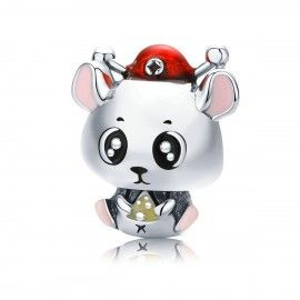 Sterling silver charm Baby mouse