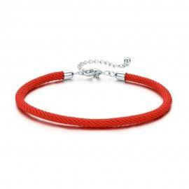 Bracelet en tissu avec fermoir en argent sterling