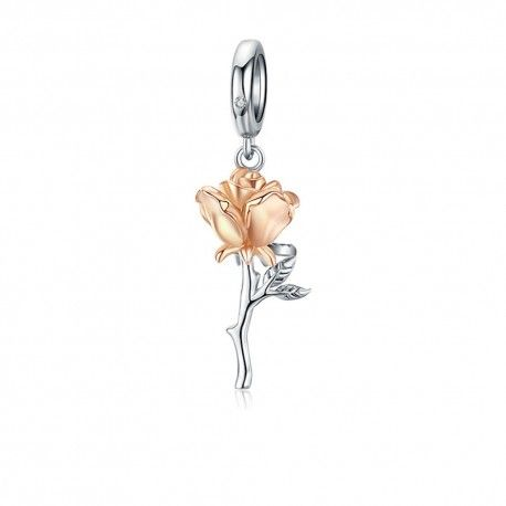 Sterling silver pendant charm The rose