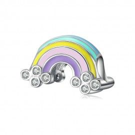Sterling silver charm Rainbow with enamel