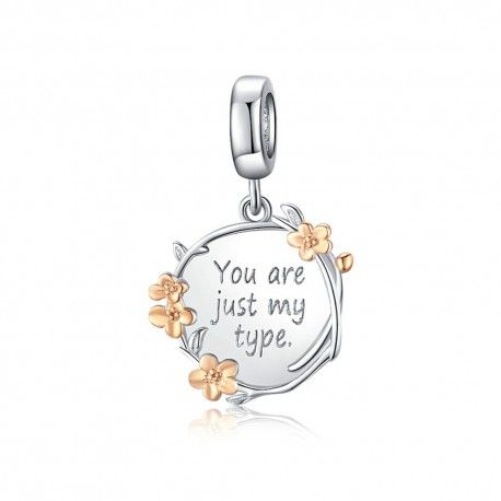 Sterling silver pendant charm You are just my type