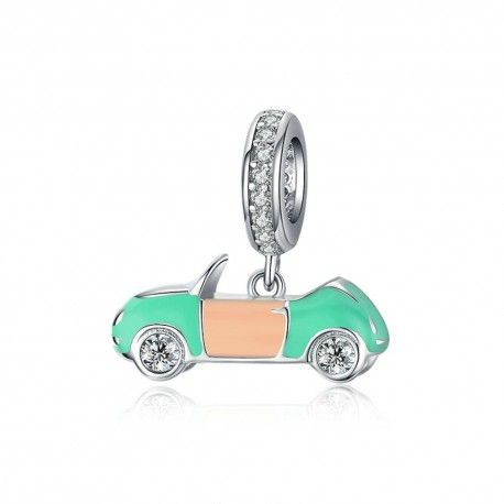 Sterling silver pendant charm Convertible car