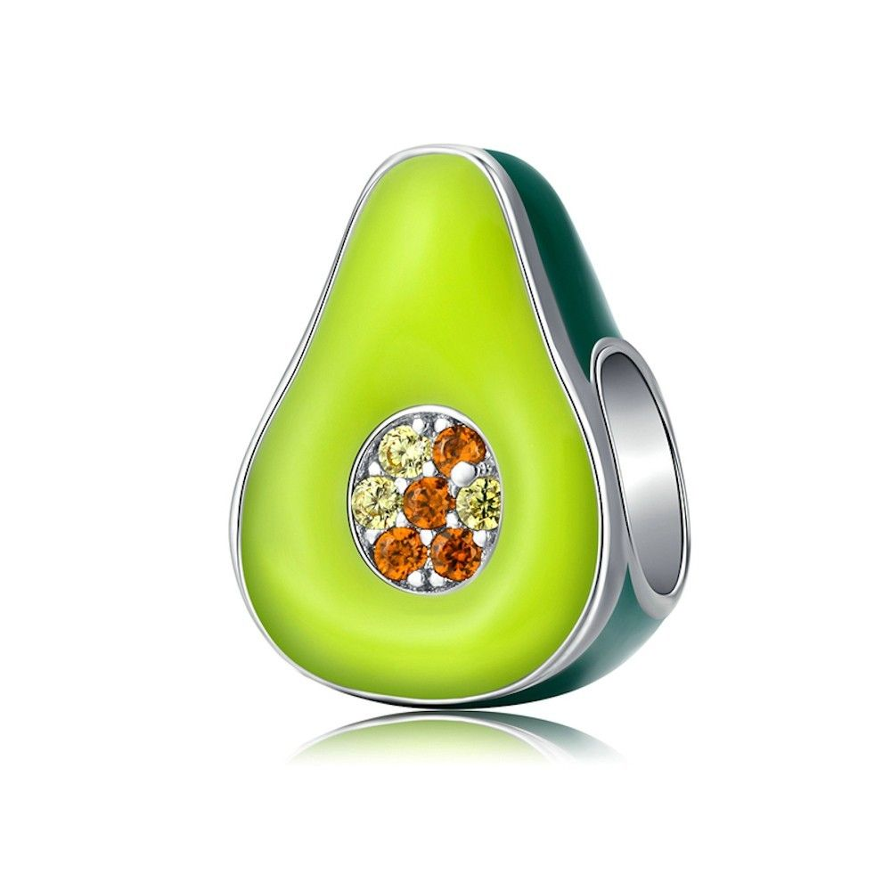 Sterling silver charm Avocado
