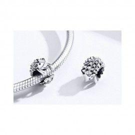 Sterling silver charm Hedgehog