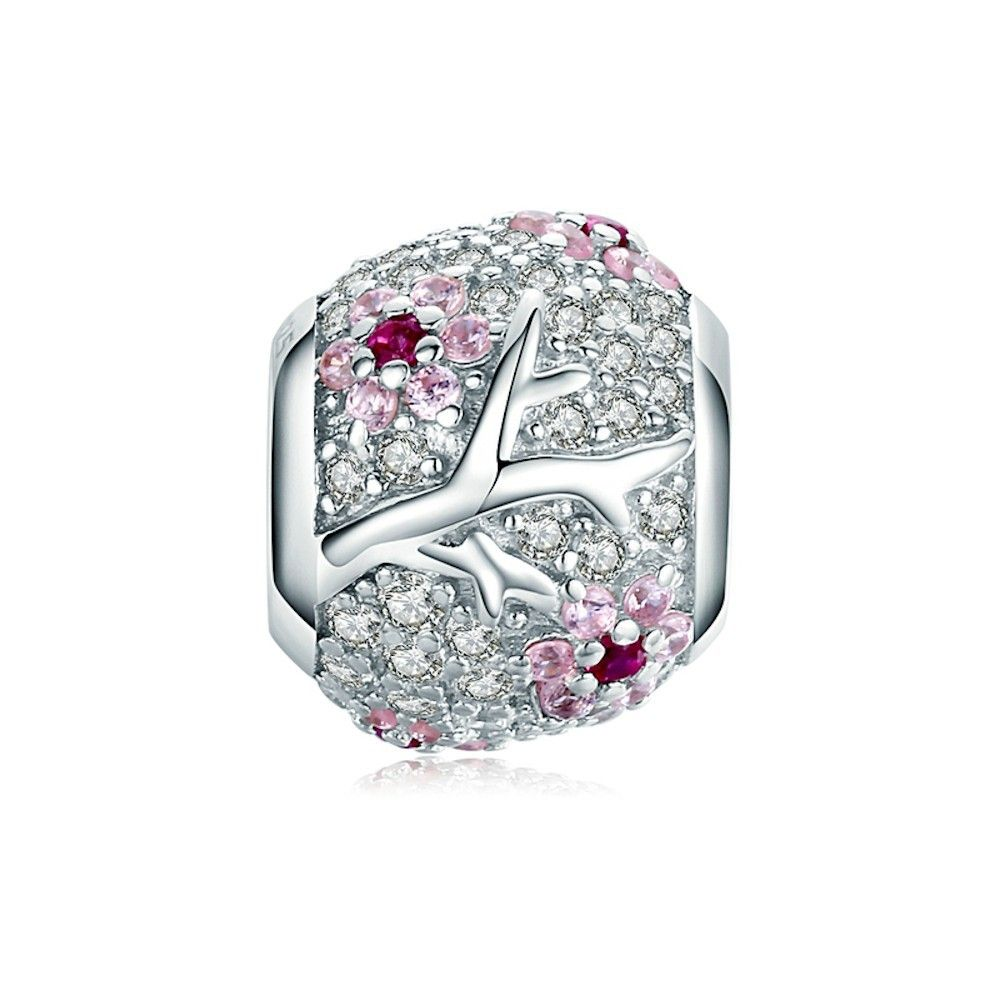Sterling silver charm Plum blossom