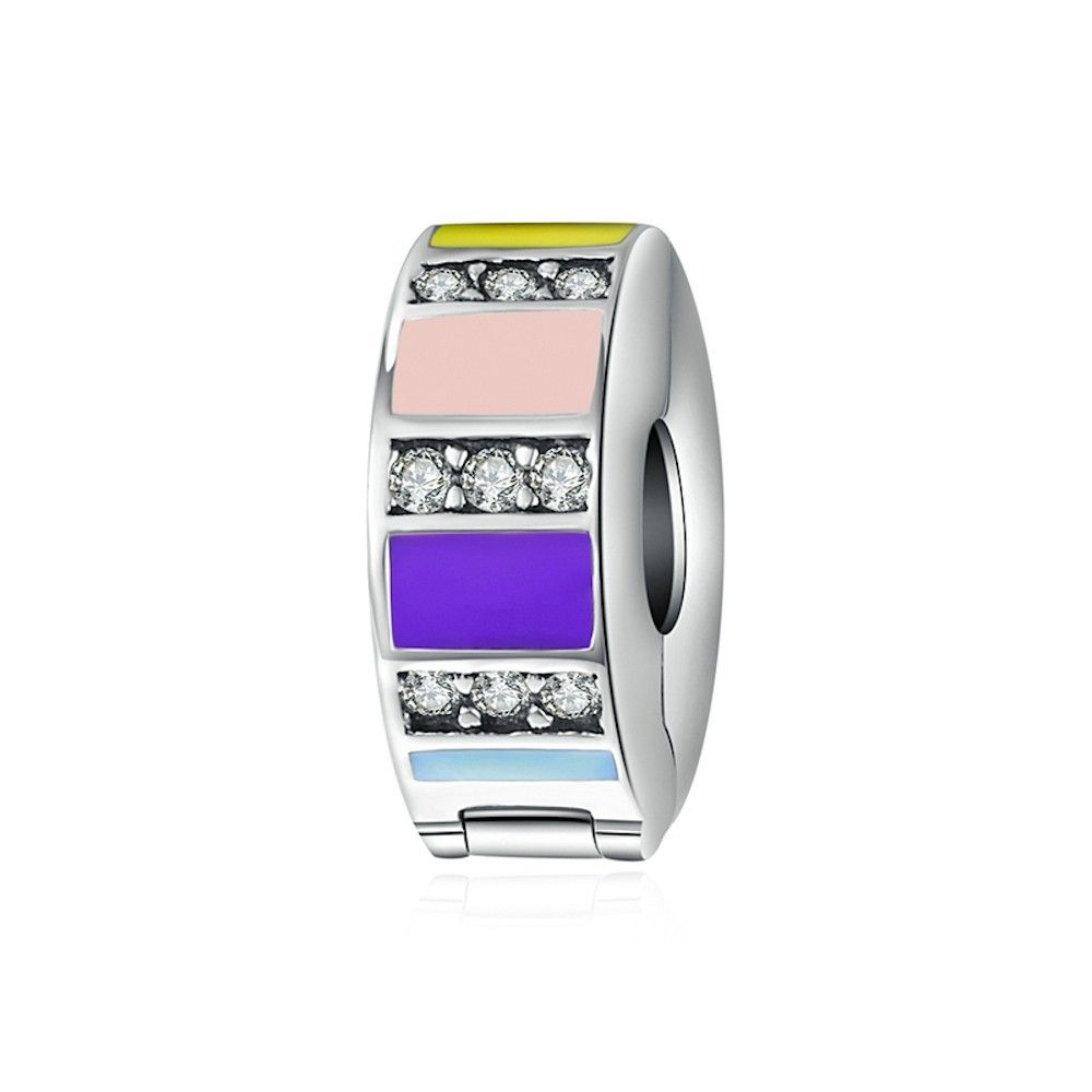 Sterling silver clip Rainbow