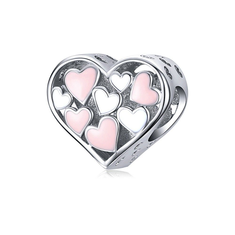 Sterling silver charm Romance heart