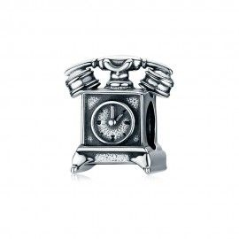 Sterling silver charm Retro telephone